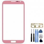 Front Glass Pink Screen Cover + Tools for Samsung Galaxy Note 2 N7100