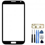 Front Glass Black Screen Cover + Tools for Samsung Galaxy Note 2 N7100