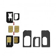 3 Pack Adapter Set - Micro/Nano/Standard SIM adapters iPhone 5 4S 4