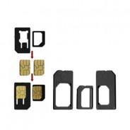 3 Pack Adapter Set - Micro/Nano/Standard SIM adapters iPhone 5 4S 4