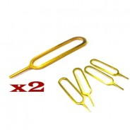 2 x iPhone 3G 3GS 4G 4S GOLD SIM Tray Needle Pins