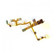 Headphone Audio Jack Flex Cable Volume Controls and Vibrator White for iPhone 3G