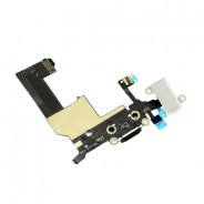 Audio Headphone Jack / Charging Dock Connector White For iPhone 5