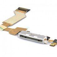Charging Port Dock Connector Flex Cable With Mic White For iPhone 4S