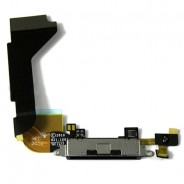 Charging Port Dock Connector Flex Part Mic Black For iPhone 4S