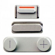 3 In 1 Side Button Set For iPhone 5 5G With Power,Volume & Mute Silver