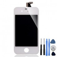 LCD Screen And Digitizer Display Assembly White For iPhone 4S