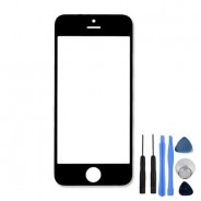 Top Front Screen Part Black For iPhone 5 Outer Glass