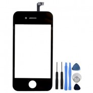 Digitizer Front Touch Glass Frame Part Black For iPhone 4S