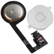 Home Button with Flex Assembly Part WHITE For iPhone 4S