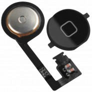 Home Button with Flex Assembly Part Black For iPhone 4S