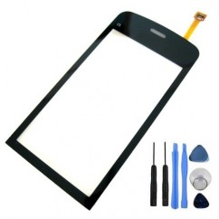 Touch Digitizer Pad Panel Front Glass Lens Black For Nokia C5 03