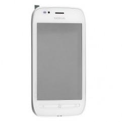 Digitizer Keypad Touch Screen Lens Front White For Nokia Lumia 710
