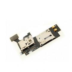 SIM Memory Card Reader Tray Slot Flex for Samsung Note II N7100