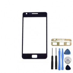 Front Outer Black Glass Cover + Tools Adhesive For Samsung Galaxy S2 i9100