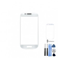 Front Screen White Lens + Tools Adhesive For Samsung Galaxy S3 Mini i8190