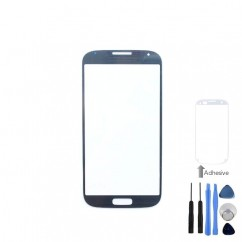Front Outer Glass Blue Cover + Tools Adhesive For Samsung Galaxy S4 i9500