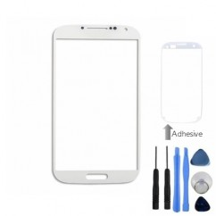 Front Outer White Glass Cover + Tools Adhesive For Samsung Galaxy S4 i9500