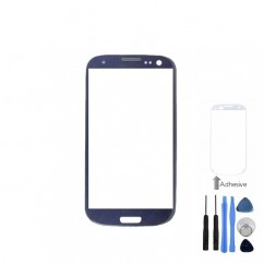 Front Screen Blue Lens Glass + Tools Adhesive For Samsung Galaxy S3 Mini i8190