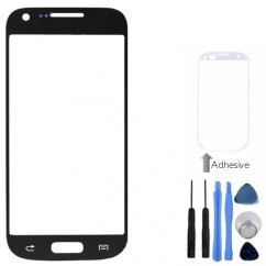 Front Outer Black Glass Cover + Tools Adhesive For Samsung Galaxy S4 Mini