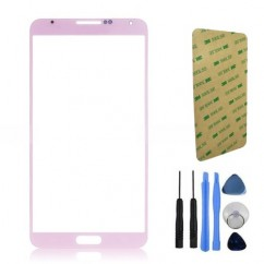Front Screen Pink Glass + Tools Adhesive For Samsung Note 3 N9000 N9005