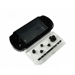 Full Housing Faceplate Case Cover Black For Sony PSP 3000 Slim