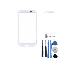 Front Outer Screen Glass White For Samsung i9300 S3 + Tools Adhesive