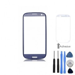 Front Outer Screen Glass Blue For Samsung i9300 S3 + Tools, Adhesive