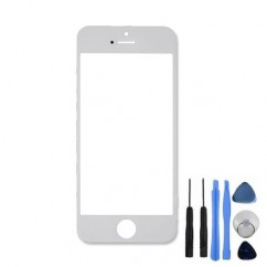 Top Front Screen Part White For iPhone 5 Outer Glass