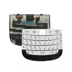 QWERTY Keypad Membrane Flex White For Blackberry Bold 9900 9930