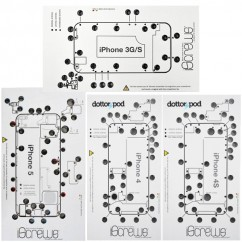 4 x Pack iScrews Professional Repair Tray For iPhone 3G 4 4S & 5