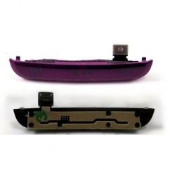 Genuine Purple Top Media Buttons With Housing Flex For Blackberry Pearl 3G 9100