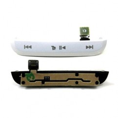 Genuine White Top Media Buttons With Housing Flex For Blackberry Pearl 3G 9100