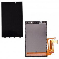 Black Touch Glass LCD Digitizer Assembly Replacement For Blackberry Z10 002/111