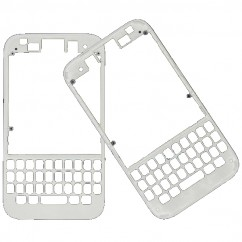 White Housing Front Bezel Outer Frame Fascia Faceplate Replace For Blackberry Q5