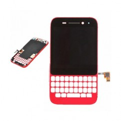 Red Complete LCD Screen with Touchscreen Digitizer Lens Cover For Blackberry Q5