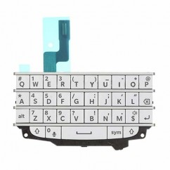White QWERTY Keyboard Keypad Buttons Flex Replacement Part For Blackberry Q10