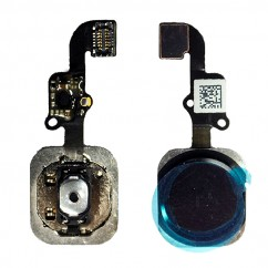 Home Button Key with Flex Assembly Black Replacement Part Repair for iPhone 6
