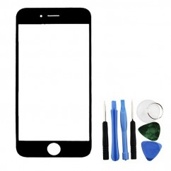 Front Glass Lens Screen Black + Tools Replacement Part Repair for iPhone 6