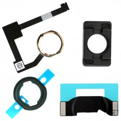 White & Gold Home Button Flex Cable Holder Camera Bracket for iPad Air 2 iPad 6