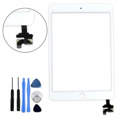 White Glass Touch Screen Digitizer w/ IC Replacement Repair Part for iPad Mini 3