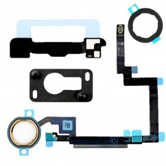 White & Gold Home Button Flex Cable Holder Camera Bracket for iPad Mini 3 Retina