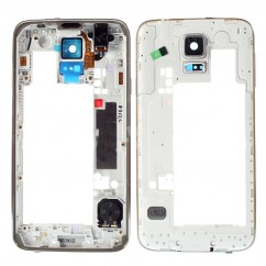 Silver Rear Chassis Back Frame Bezel Repair for Samsung Galaxy S5 IIIII i9600