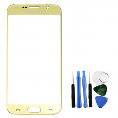 Gold Front Glass Lens LCD + Tools for Samsung Galaxy S6 SM-G920F