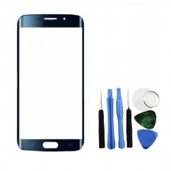 Blue Front Glass Lens + Tools for Samsung Galaxy S6 Edge SM-G925