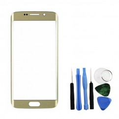 Gold Front Glass Lens + Tools for Samsung Galaxy S6 Edge SM-G925