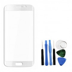 White Font Glass Lens + Tools for Samsung Galaxy S6 Edge SM-G925