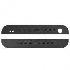 Black Front Top & Bottom Cover Cap Housing for HTC One M7