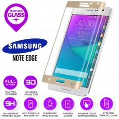 100% Genuine Gold Tempered Curved Glass Screen Protector Samsung Note Edge N915