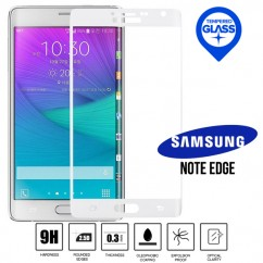 100% Genuine White Tempered Curved Glass LCD Screen Protector Film For